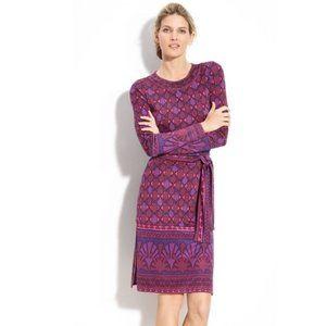 Tory Burch Audra Silk Geometric Print Dress